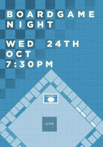 board games night 24th 730pm