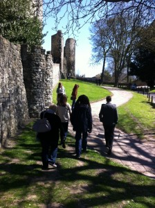 On location, Rochester Castle